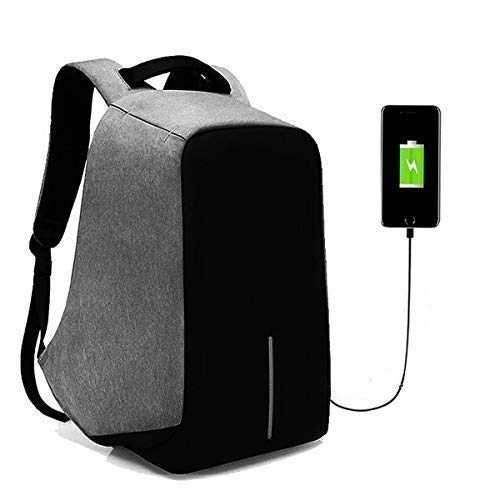 Felix Fabric Anti-Theft Water Resistant Computer USB Charging Port Lightweight Laptop Backpack Bag Fitting 15.6-inch Laptops Tablets