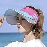 N\C Sombrero para el Sol Protector Solar para Mujer Verano Todo fósforo Salida Ajustable en la Playa para Cubrir la Cara Sombrero de sombrilla vacío para jóvenes