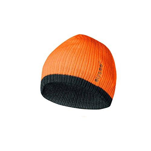 elysee Thinsulate - Gorro de punto, color naranja y negro fluorescente