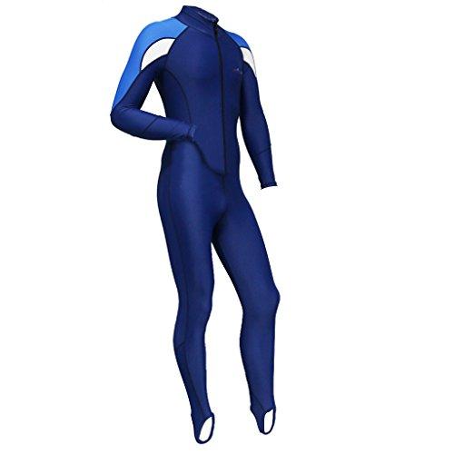 perfk Hombres Mujeres Traje De Neopreno Surfing Natación Buceo Freedive Traje De Cremallera Frontal UPF50 + UV Traje De Baño De Guardia Antirradar De Protec - s