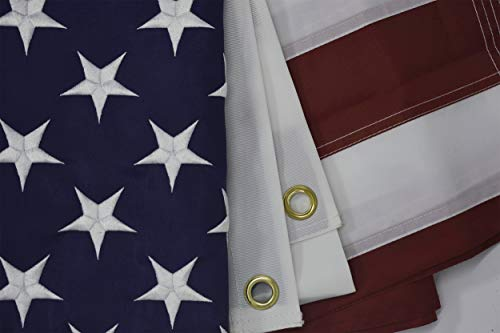 RossGoal American FlagUS Flags 3x5ft Embroidered Stars Sewn Stripes Heavy Duty Durable USA Banner Outdoor Indoor Use for Pole 3 by 5 Foot