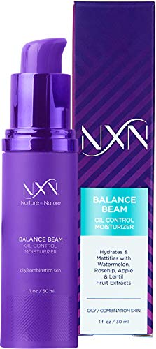 NxN Oil Control Anti Aging Moisturizer with Watermelon & Rosehip to Balance & Hydrate - Face Lotion for Oily/Combination Skin Care 1oz