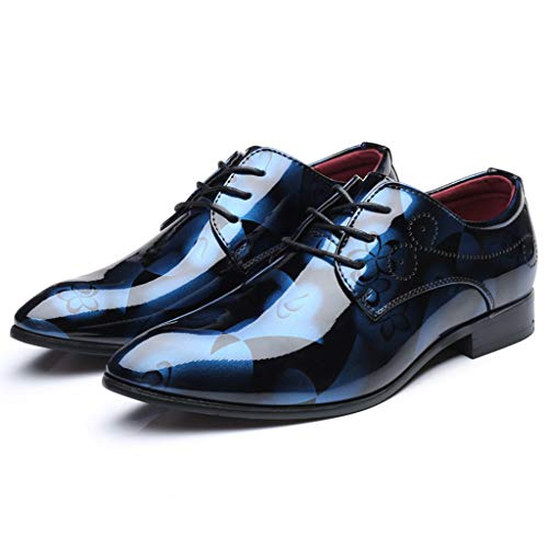 DeHolifer Herren Business Anzugs Schuhe Schnürhalbschuhe Casual Glänzend Schuhe Männer Wohnungen Schnüren Sich Männliche Wildleder Oxfords Männer Hochzeit Schuhe Lederschuhe 37-48