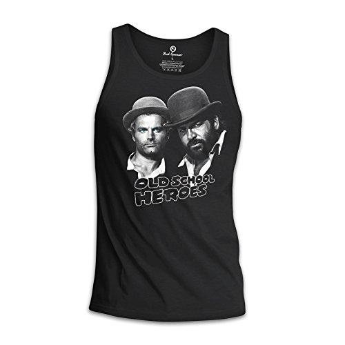 Bud Spencer® Herren Old School Heroes Tanktop/Muscle Shirt (schwarz) (S)