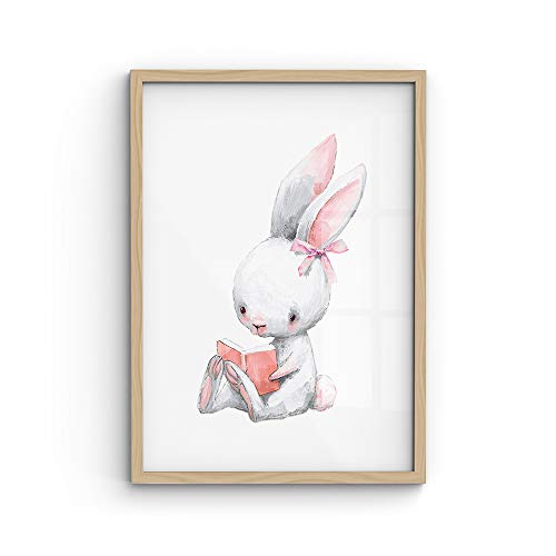 malango® A4-Poster Hase Schlauli - viele Motive wählbar - ohne Rahmen | Kinderposter, Kids, Wanddekoration, Wanddeko, Kinderzimmer