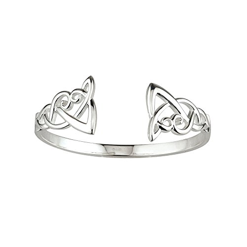 Celtic Knot Bangle Bracelet Silver Made in Ireland