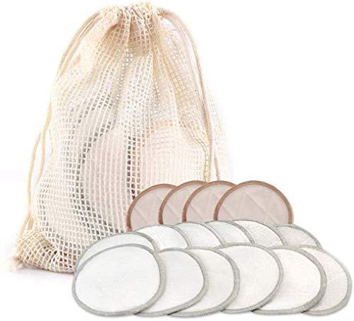XIAOYU Abschminkpads waschbar +Bambus Baumwolle Make-Up Entfernen Pad, Wiederverwendbare DREI Schichten Waschbare Gesichtsreinigung Waschbar Wischen, Ist Auch EIN Großes Geschenk, 16Pcs