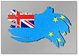 Tuvalu Grunge Flagge, Tuvalu Fahne mit Shadow Illustration Kühlschrankmagnet