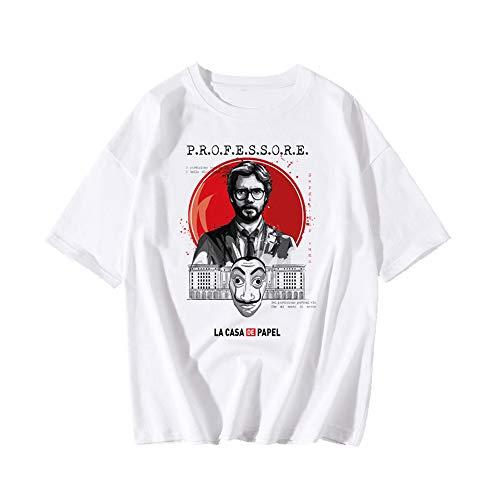 Unisex La Casa De Papel 4 T-shirt, geld overval T-shirt grappig design Dali masker Casa De Papel shirt voor vrouwen mannen