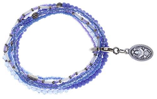 Konplott Armband Elastic Petit Glamour d´Afrique Blue antik Silber