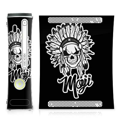 DeinDesign Skin kompatibel mit Microsoft Xbox 360 Aufkleber Folie Sticker Moji Merchandise Indianer