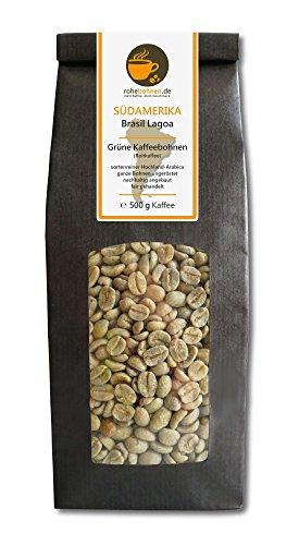 Rohkaffee - Grüner Hochland Kaffee Brasil Lagoa (grüne Kaffeebohnen 500g)