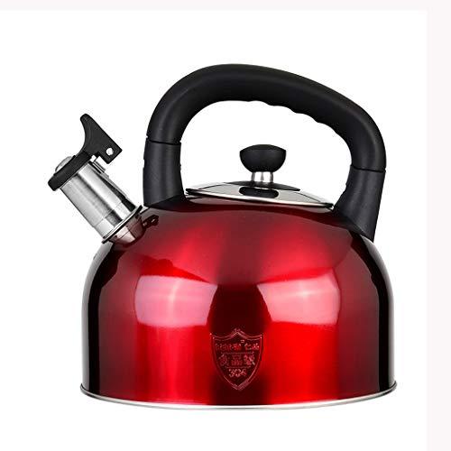 Wddwarmhome Bouilloire à gaz siffleur en acier inoxydable 304 4L / 5L / 6L ménage épaissir grande capacité cuisinière à induction de gaz cuisinière (Color : A, Size : 3L)