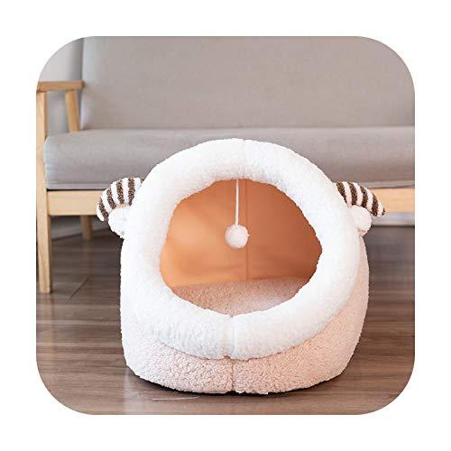 Cama de gato, casa de perro, acogedora y calmante, plegable, carpa de forro polar para mascotas pequeñas, medianas, lavables, para dormir perrera de ovejas, para 3 kg