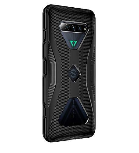 GIOPUEY Hülle für Xiaomi Black Shark 4/4 Pro, TPU-Material Weich Superdünn Hülle, Slim Fit Wärmeableitung Handyhülle [Abriebfest] [rutschfest] - Schwarz