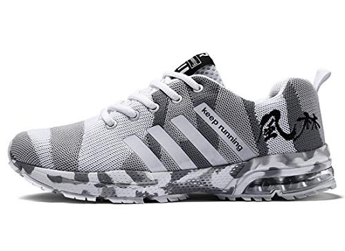 COZYBEDCOVER Zapatillas deportivas para hombre y mujer, acolchadas, transpirables, ligeras, cómodas, para caminar, color gris claro