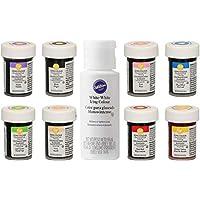 bakeryteam Colorantes alimentarios Wilton en súper set de 8 unidades + EXTRA: Blanco
