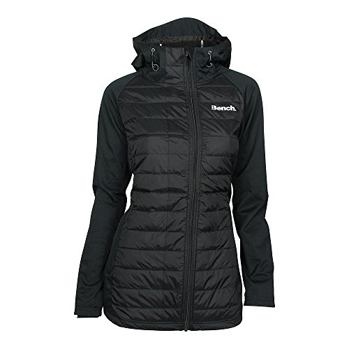 Bench Damen Wadded Softshell Jacke, Schwarz (Black Beauty Bk11179), Small