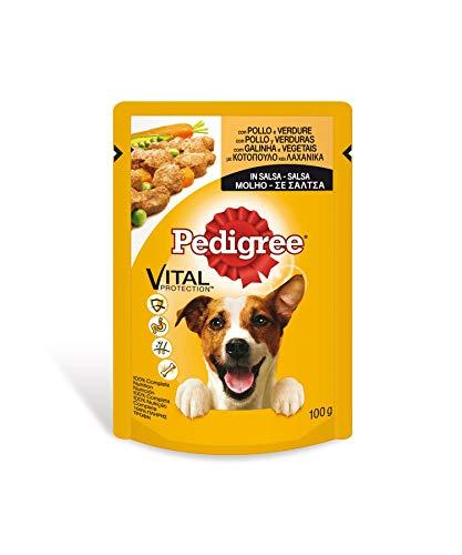 Bolsita para perros adultos de pollo y verduras 100g | [Pack...