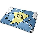 N/C Felpudos de puerta de linda estrella con nube en el cielo diseño antideslizante para puerta de entrada al aire libre alfombra decoración del hogar 15.7' x 23.5' personalizado
