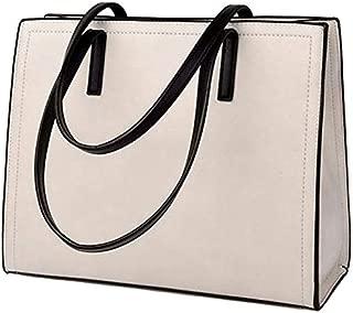 TOOGOO Pu Leather Handbags Big Women Bag Casual Female Bags Tote Brand Shoulder Bag Ladies Large, Beige