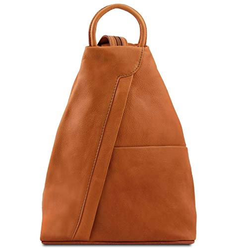 Tuscany Leather Shanghai Zaino in pelle morbida Cognac