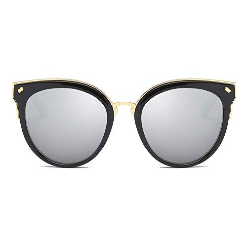 Cyxus Retro Sonnenbrille Damen Polarisiert, Sonnenbrille Damen - Style Cateye, Metall Rahme, Retro für Strandreisen unerlässlich für Fahren Angeln Reisen