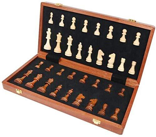 Ajedrez, ajedrez internacional Gran tablero de caoba de caoba, ajedrez plegable de madera maciza en línea, competencia, competencia, conveniente, adultos portátiles, juegos para niños, truele Jzx-n
