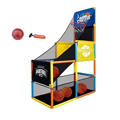 GLG Sport Basketballkorb - Innenbasketballkorb, Kinderbasketballkorb Arcade-Spiel - Arcade-Spiel for Kinder, Basketball Schießen System, for Jungen und Mädchen im Alter von 1-14 (Farbe : 1 Ball)