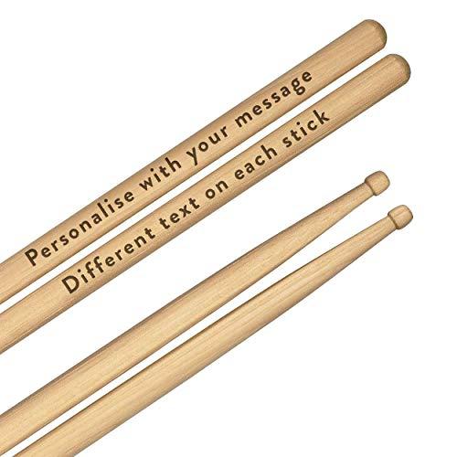 Personalisiert Eigener Graviertes Drumsticks 5A Premium Qualität Ahorn Holz Jeder Nachricht Text Holz Spitze