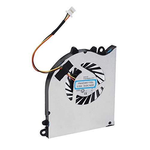 Ventilador de refrigeración de CPU, Ventilador de disipador de Calor de Computadora Ltra-Silence,Ventilador de Alta Velocidad con radiación de Viento Fuerte, para MSI GS60 2QE GS60 Ghost Pro Seires