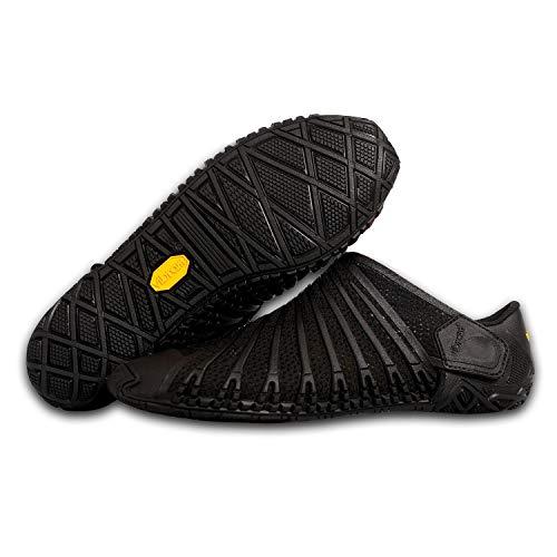 Furoshiki Vibram FiveFingers Knit Original Men - S E T - Zapatillas transpirables para hombre, con práctica bolsa de transporte, Negro , 44 EU