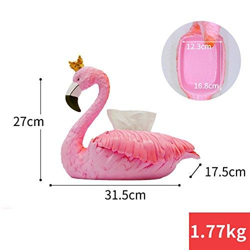 Harz-einfache kreative flamingo freistehende gewebekasten,Süße wasserdichte mode wohnzimmer küche bad wc-papierhalter-A 31.5x17.5x27cm(12x7x11inch)