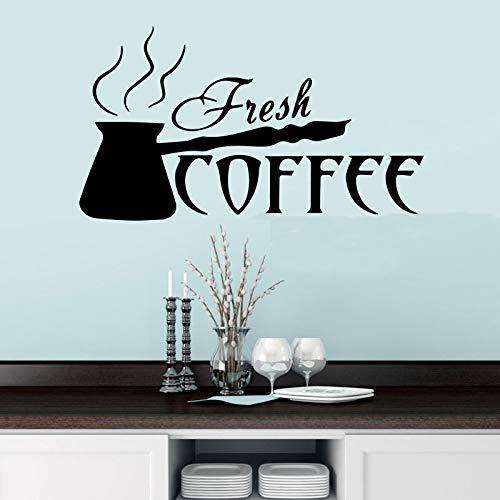 YuanMinglu Kochen Kaffee wandaufkleber Moderne Mode Dekoration küchentapete Vinyl Aufkleber selbstklebend schwarz XXL105cm X 58cm