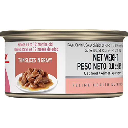 Royal Canin Feline Health Nutrition Thin Slices in Gravy Wet Kitten Food, 3 Ounce Can