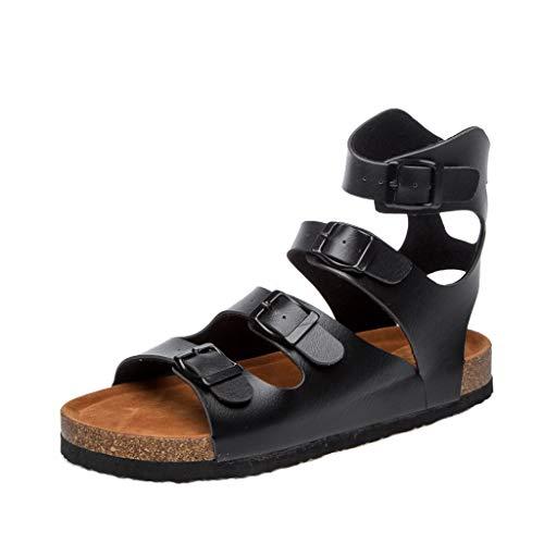 Zapatillas Plataformas de Mujer de Moda Verano y Hebilla de Ajuste Alto TOKEAL Chanclas Suela de Corcho Sandalias Mule