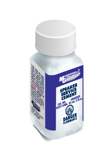 MG Chemicals 8337 Speaker Repair Cement, 55ml Liquid Bottle, Black