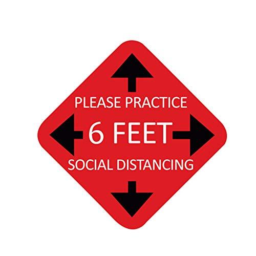 Suang Oefen Sociale afstand Floor Sign.7 Cirkel Druk Gevoelige Lijm. Drukgevoelige Vinyl, gemaakt om op te lopen.