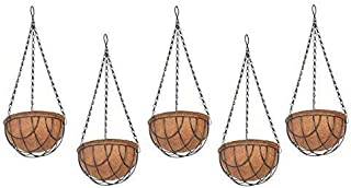 COIR GARDEN Coir Hanging Pot, 8 inch, 5 Pieces