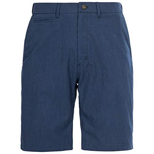 Trespass Atom Shorts Homme, Bleu Marine à Rayures, M