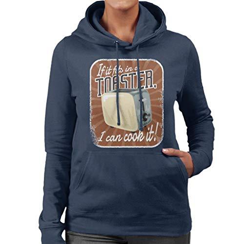 Als het past in een broodrooster ik kan koken het vrouwen Hooded Sweatshirt