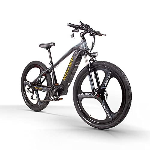 RICH BIT TOP-520 29'Mountain bike elettrica, batteria agli ioni di litio rimovibile 48V * 10AH, deragliatore Shimano 7 velocità, bici elettrica MTB adulto 500W (oro)