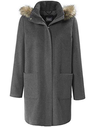 Basler Damen Mantel mit Abnehmbarer Kunstfell-Kapuze