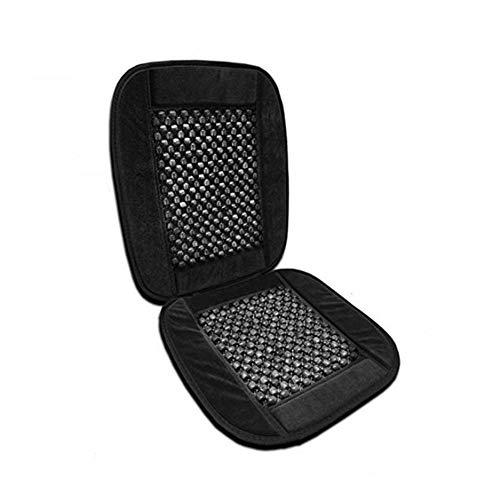 Autostoelbeschermer met massage-functie, universeel zitkussen, gevoerd, stoelbeschermer met universele pasvorm, de perfecte bescherming voor je autostoelen en bureaustoelen, 35