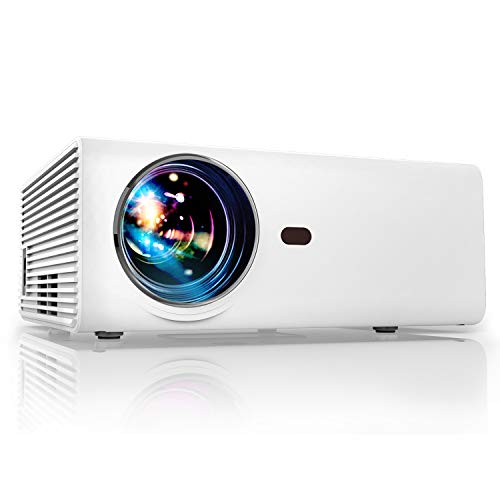 Projector, YABER Portable Projector with 5500LUX 60,000 HRS ...