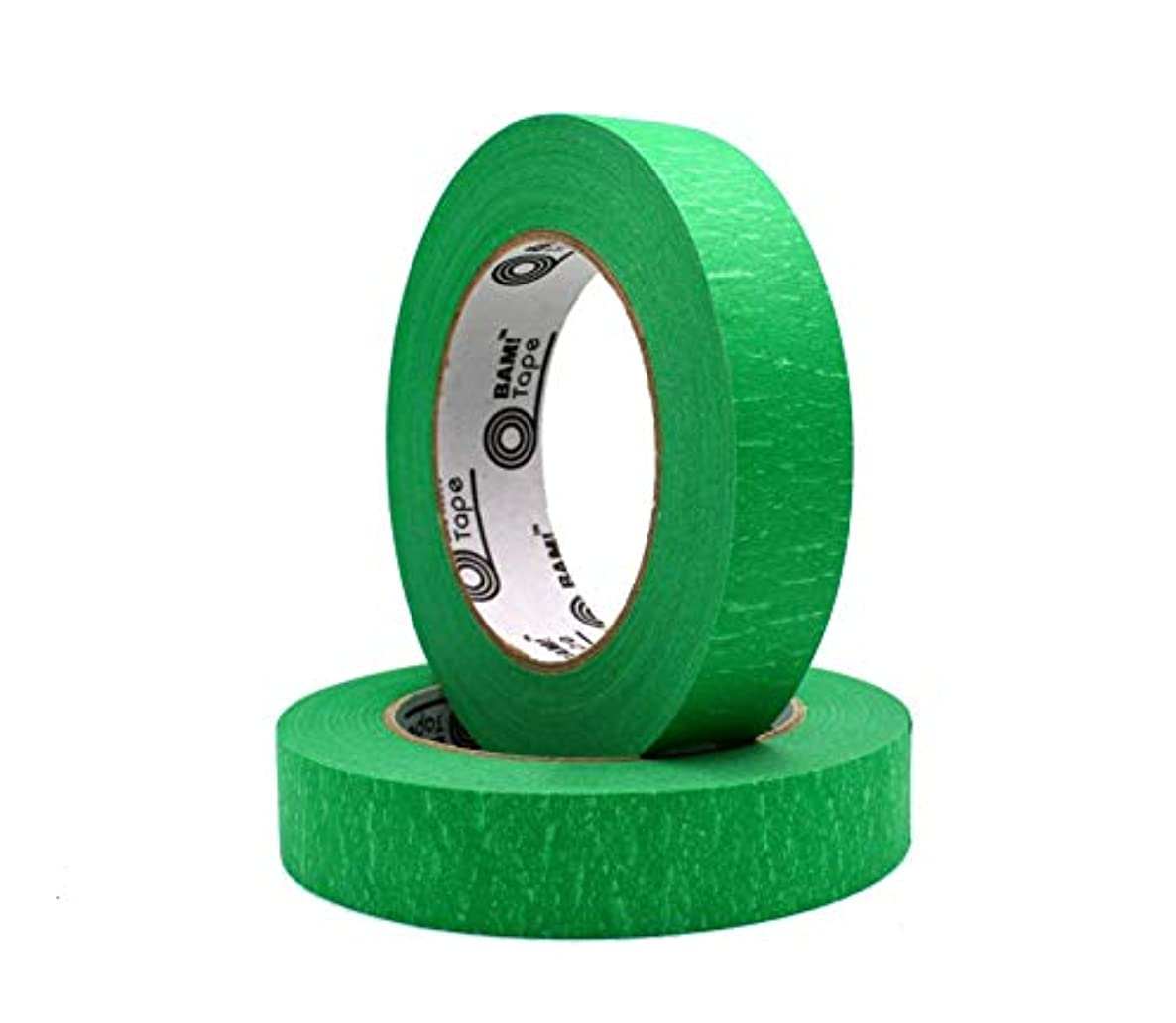 Green Colored Masking Tape - 2 Large Rolls - 1 inch x 60 Yard Rolls - for Kids Toddlers Adults Teachers - Fun Crafts DIY Projects Science Math Art STEM STEAM