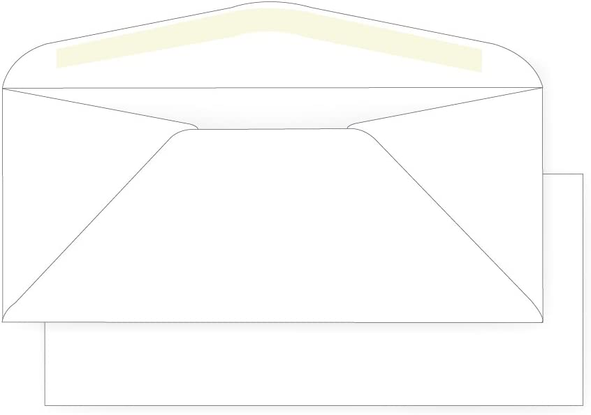 #11 Popular products Regular Envelope - 24# White Wove 4 10 Max 47% OFF 2 Commerc x 8 1 3