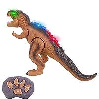 DANYU リモコン恐竜のおもちゃ、Ledライトrcウォーキング恐竜のおもちゃ、バトルモードのタッチセンシングロボット、子供のための咆哮&ダンスrc恐竜の誕生日プレゼント