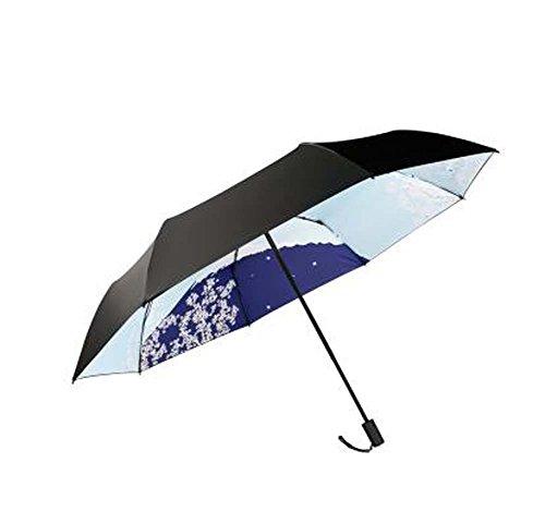 Pare-brise pliante pour parapluie et parapluie de style japonais, fleur intérieure