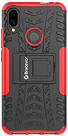 Bracevor Shockproof Hybrid Kickstand Back Case Defender Cover for Xiaomi Redmi Note 7 | Xiaomi Redmi Note 7 Pro - Red